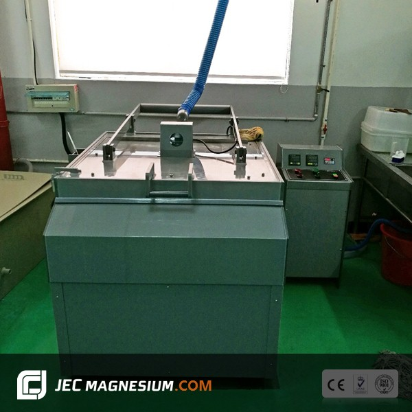 Magnesium etching machine for etching precess