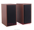 Popular 120-20KHZ Red Wooden Computer Audio Box Speaker For Laptop
