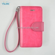 Women's Luxury Rose Wallet Leather Case for iphone5/5s New