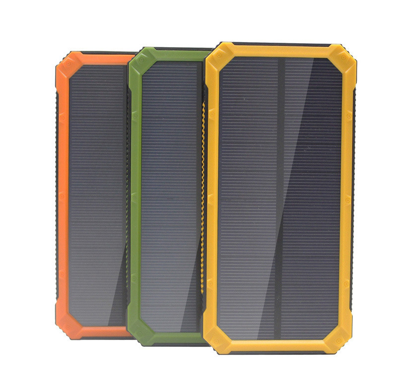 Hot selling waterproof solar power bank solar charger with camping light function