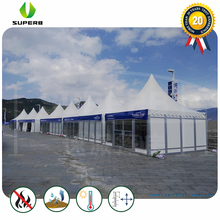 2018 new high quality 2040 pvc pagoda party tent with glass wall