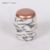 Marble look beton material candle jars marble candle holders