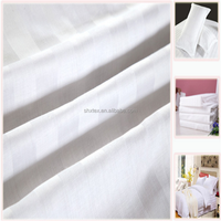 wholesale white bleached 80 cotton 20 polyester stretch fabric for hotel/home/hospital bedding set