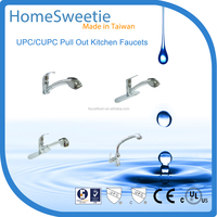 HomeSweetie Quality Guaranteed Bath Design Chrome Plated Brass Kitchen Faucet