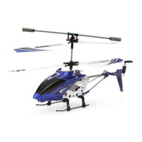 LIHAO high qulity rc helicopter for sales S107G 3.5 Channel RC Helicopter with Gyro, Blue