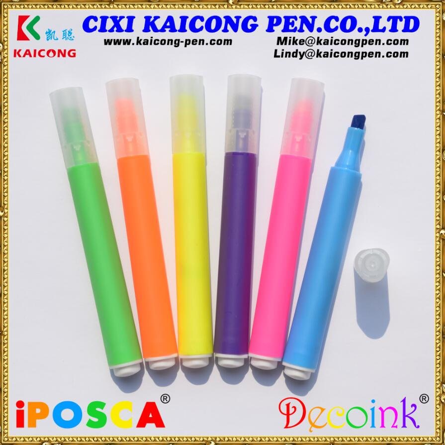 KAICONG fluorecent marker Pretty Highlighter Marker With Gift Box