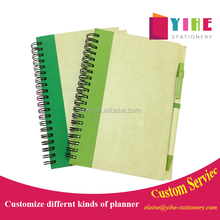 36K cheap spiral notebook kraft cover student diary planner