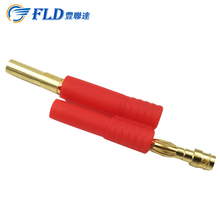 Promotion 8 mm gold plated banana plug EC8 standard male & female electrical pin connector with blue plastic housing Customs