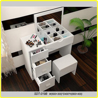 Wooden cosmetic vanity dressing table/foldable dressing table