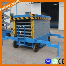 12m Hydraulic air motorcycle scissor lift table for repair