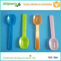 Best selling food grade dessert colored square disposable spoon