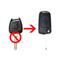 Vauxhall Opel Astra Vectra Zafira 2 Button CONVERSION Flip Remote Key Fob Case HU46 Blade