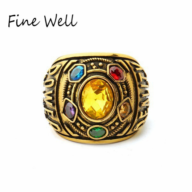 High Quality Avenger 3 Infinity War Marvel Movie Six Stone Thanos <strong>Ring</strong>