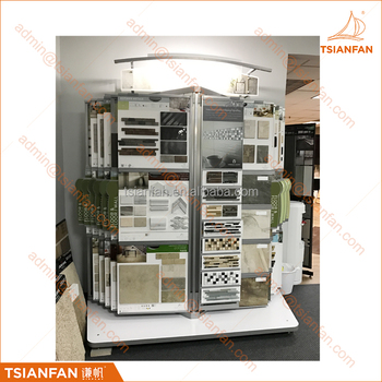 High Ending Ceramic and Stone Tile Board Wing Display Stand for Showroom - MF301