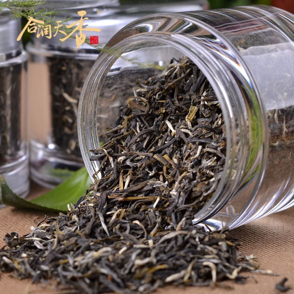 canned loose jasmine green tea