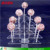 Christmas tree shape acrylic clear lollipop stand lucite Perspex display holder