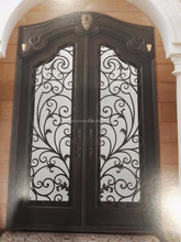 luxury wrought iron double entry doors