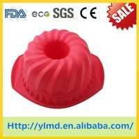 cyclone shapes FDA LFGB approved silicone cake mold