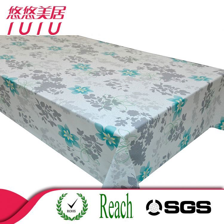 factory wholesale custom printed vinyl lace tablecloth roll
