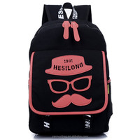 Popular sale kids school bags canvas fabric backpack with solar panel wholesale China 2015
