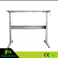 Sit to stand metal frame for office computer tables