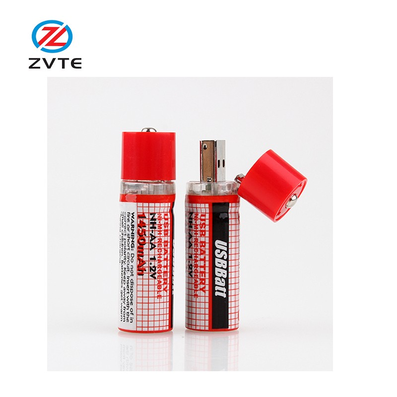 shenzhen factory USB AA Rechargeable nimh Battery 1450mAh