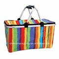 Folding picnic basket with lid