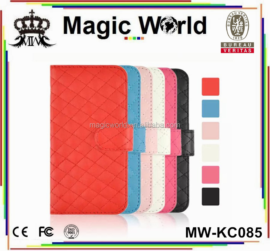 Best Quality Soft Leather Skin Mobile Phone Wallet Case