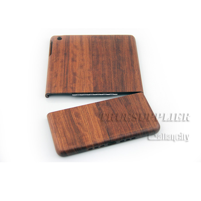HIgh Quality Wooden case for iphone ipad(protective containment back cover for ipad)