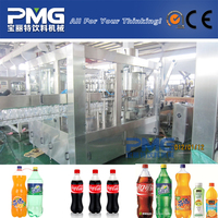 Carbonated soft drink filling machine with mixer and water chiller