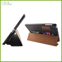 Ultra thin stand leather case cover for ipad air