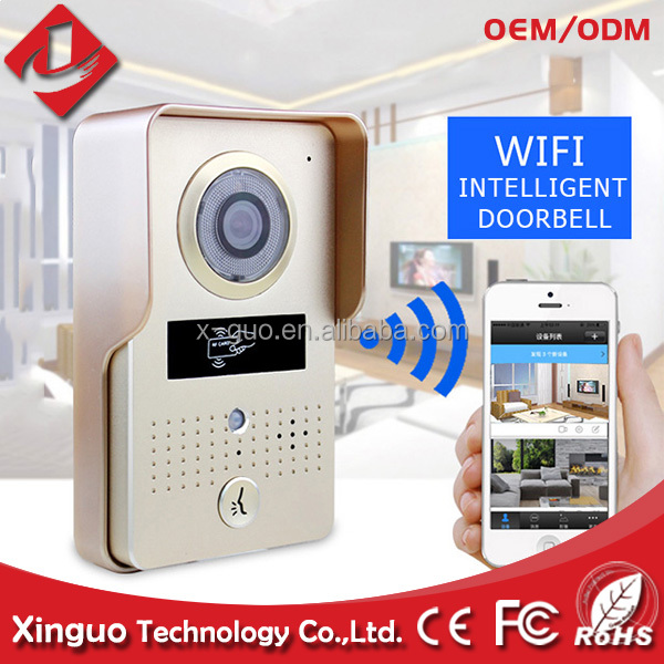 door bell with camera and rain cover, home security wifi wireless doorbell for apartments