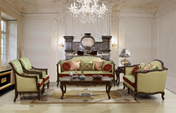 Classic Fabric Sofa Set, French Style Sofa Set For Living Room, Antique Furniture  Set
