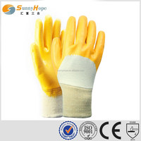 SUNNYHOPE yellow nitrile led work gloves