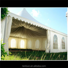 Fireproof 5*5m outdoor sunshine leisure tents