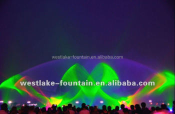 Water Screen Laser Projection Music Dancing Fountain