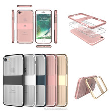 Hotsale Transparent Crystal Bumper Soft TPU Cover Case for iPhone 6 / 7 / 7 Plus Gel Mobile Phone