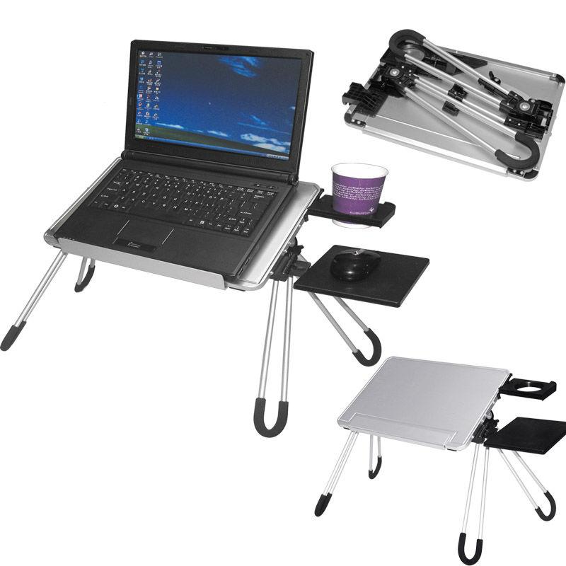 Mesa de aluminio para ordenador port til mesas plegables - Mesa para ordenador portatil ...