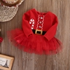 Toddler Little Girls Christmas Dress Long Sleeve Party Pageant Tutu Dresses