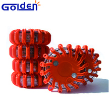 Led road side flashing emergency disc Battery flare safety warning light