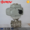 3pc threaded stainless steel electric ball valve