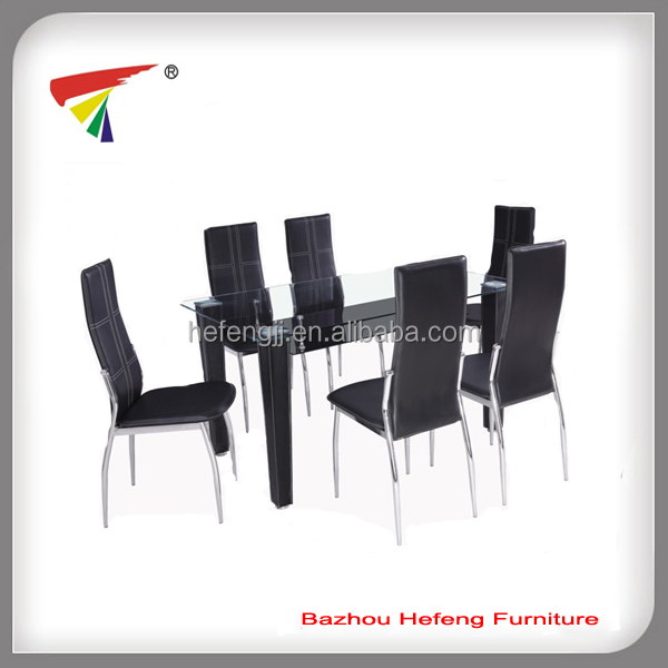 Modern design leather dining table set