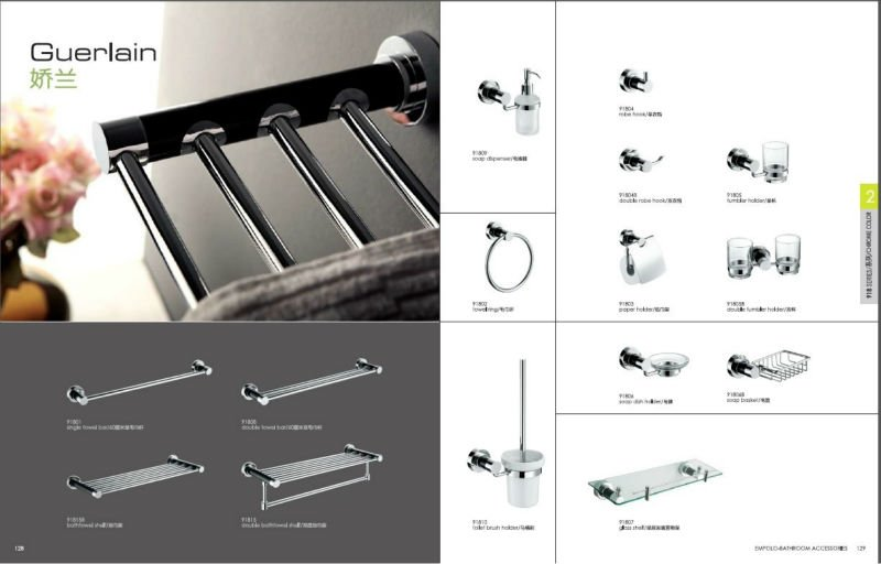 Factory Supplier, stainless steel and marble towel shelf, bathroom rack, single tier