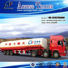 Top Quality 3 Axles Crude Oil/fuel Delivery Tank Truck Trailer Trucks for sale