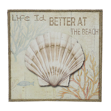 Beach themed wall art room decor
