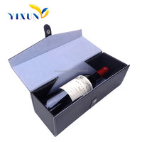Luxury Leather Paper Cover Cardboard Materials Wine glass gift box