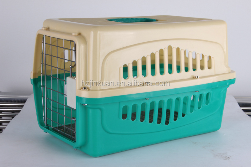 "40"" Intermediate Airline Approved Plastic Travel Carrier Small Animal; Cat & Dog Plastic Secure Pet Carrier for Airline Car Home"