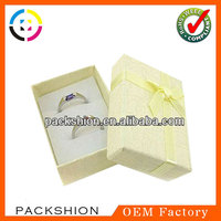 Yellow Paper Metal Ring Box For Couples Rings