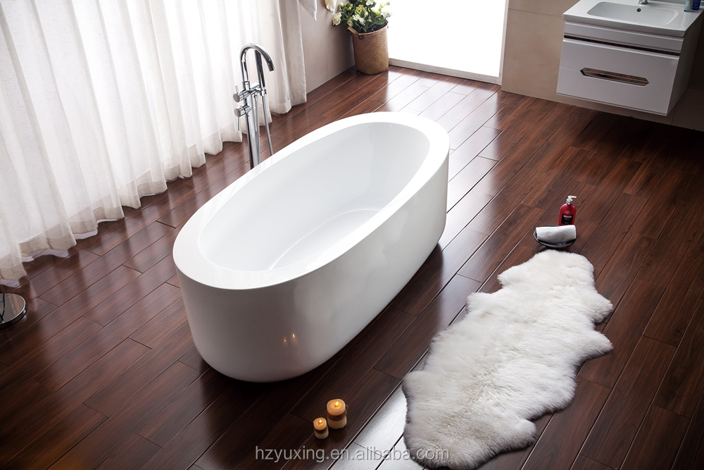 freestanding bathtub with acrylic material oval ellipse shape MV024D