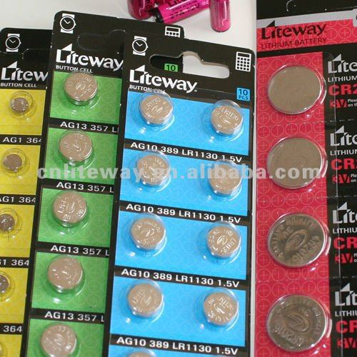 alkaline button cells 1.5V AG cells, watch battery